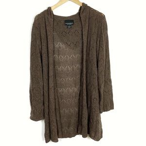 Cynthia Rowley 100% Cashmere Brown Open Cardigan